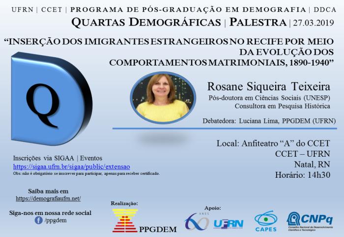 34ª QuartasDemograficas Rosane Teixeira